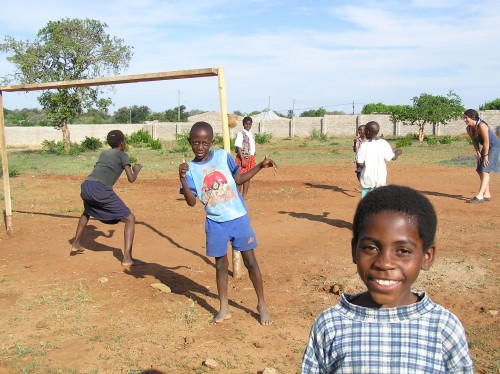 Volunteer Travel Abroad: Mercy Moona at the football