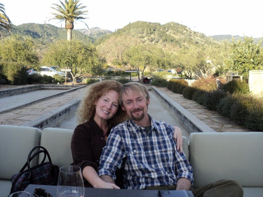 Shellie and Bryan at Silverado vineyards Napa California