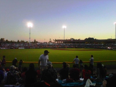 Images of Spring Training Dreams: Sunset on the lawn