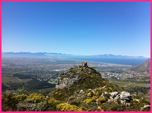 Cape Town South Africa: A Dreamers View of The-Tokai-Lookout-Point