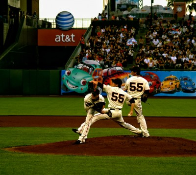 Giants Big Dream Team pitcher Tim Lincecum photo by R Gervais, effects by R Mabry