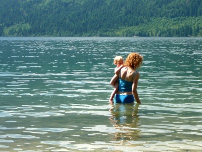 Travel with children - Swimming in Slovenia