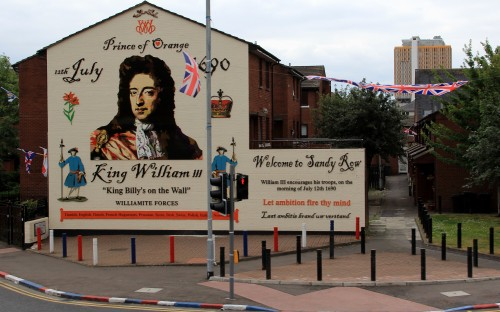 Unionist mural in Belfast, Northern Ireland