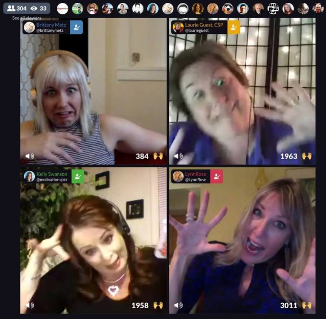 The Virtual Laugh Bar on Blab