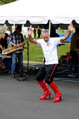 Walk A Mile In Her Shoes Red Go Go Boots