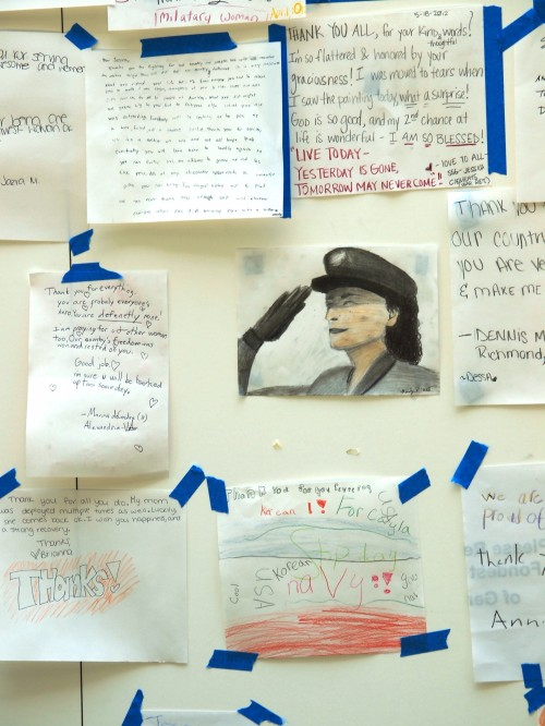 Wordless Wednesday Images of the Thank You Wall