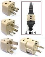 World travel Universal 2-in-1 Plug Adapter Kit