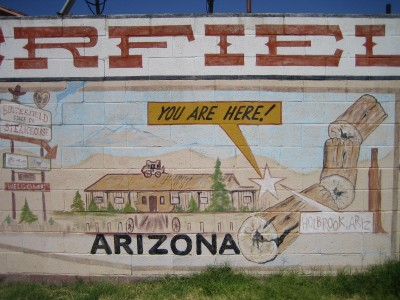 World's Largest Route 66 Mural. Holbrook, Arizona