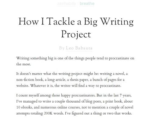 American Blogger Film Ignites Blogging Shitstorm: Zen Habits Blog