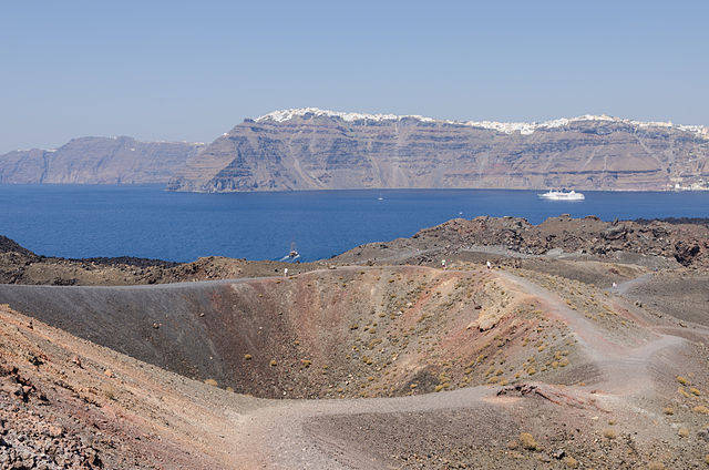 Top 8 Hiking Travel Destinations: Nea_Kameni_volcanic_island Santorini Greece