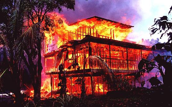 Book-Publishing Dreams Come True with burning down the house