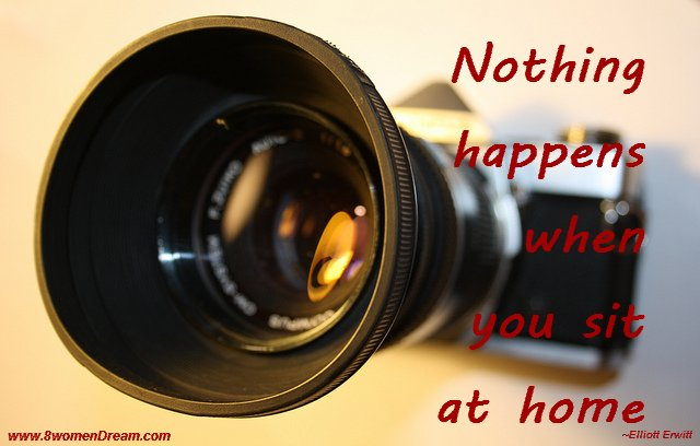 Motivational Picture Quote: Nothing Happens When You Sit at Home