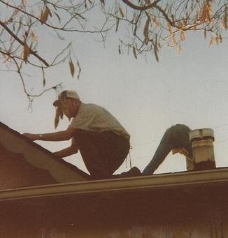 Father's Day Celebrations: My Dad Putting on a new roof