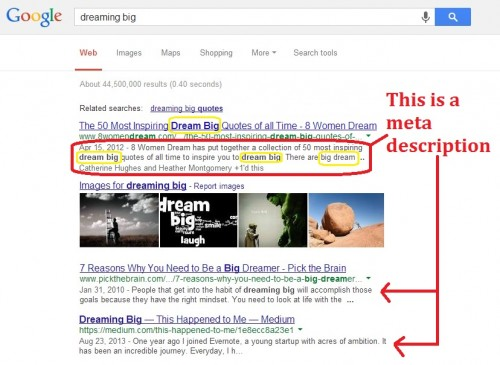Common Mistakes Bloggers Make -- Example of a good meta description