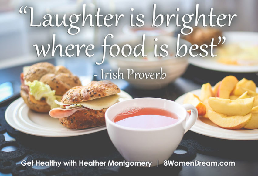 Image quote for feel good foods by Heather Montgomery