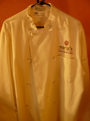Feeling Stuck: My chef coat that I salvaged from my flooded house in New Orleans