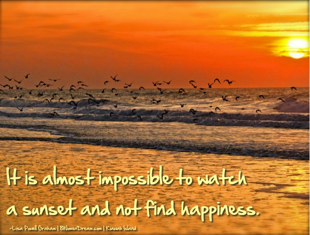 Finding Happiness in A Southern Journey - Kiawah Island Sunset