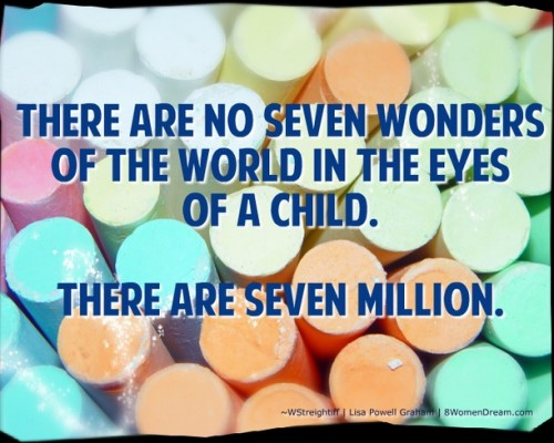 Finding Happiness in The Joy of Children: Quote by Walt Streightiff on children and chalk by Mike Plante