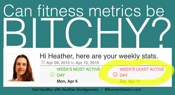 Can fitness metrics by bitchy? Post by Heather Montgomery