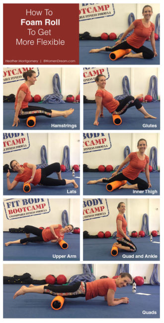 How to Foam Roll to Get More Flexible - Photo Examples