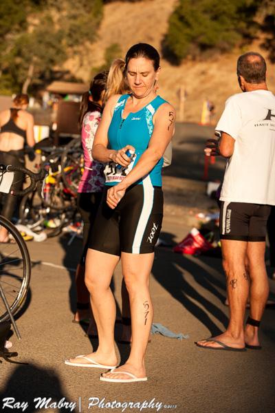 Heather Ukiah Triathlon 2013 - Getting Ready
