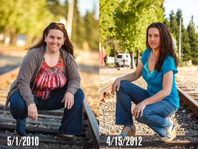 Heather Before and After weight loss