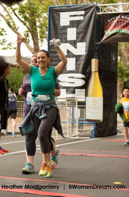 Heather Santa Rosa Downtown 5k Run Finish