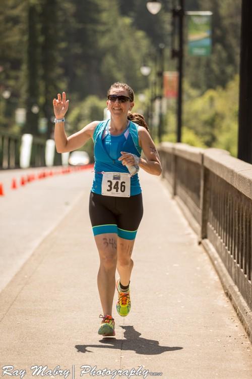 Heather - Vineman Olympic Distance Triathlon Finish Line