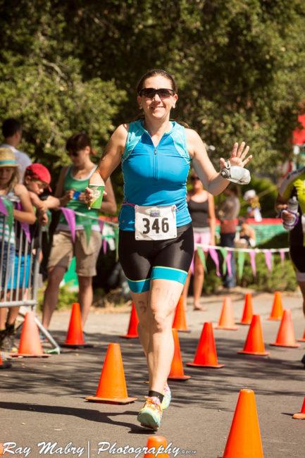 Heather at Vineman Olympic Distance Triathlon Run Start