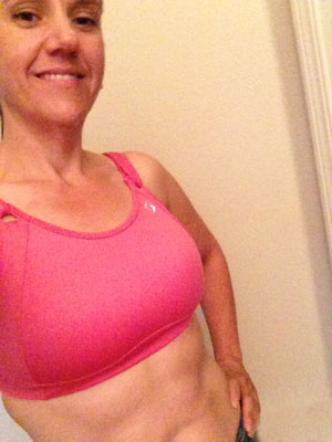 Heather working on 6-pack abs
