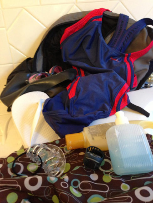 Do you need all that for swimming? Heathers swim workout bag has all the basics