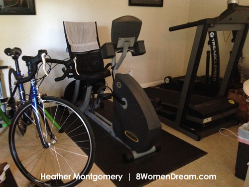 Heather workout equipment fitness inspiration