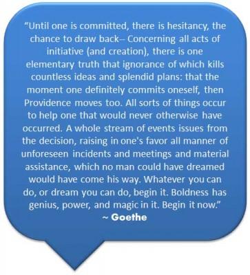 Finding Happiness Through Synchronicity and Magic - Goethe quote