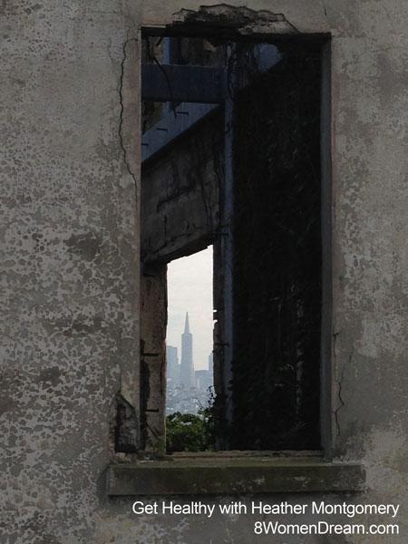 Inspiration to dream - Transamerica building from Alcatraz Island