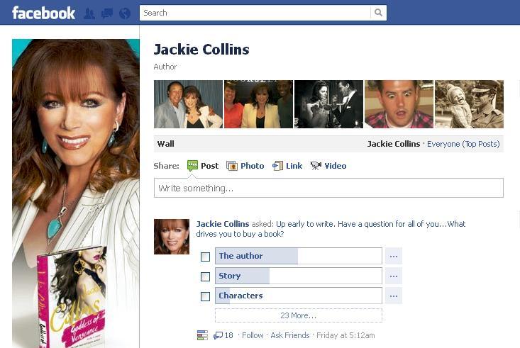 jackie collins on facebook