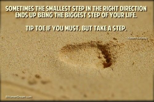 Midlife Motivation: The 1-Step Solution - Start with a first step inspirational quote