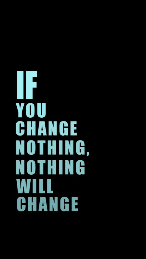 Why are we Ashamed of flaws? If you change nothing, nothing will change