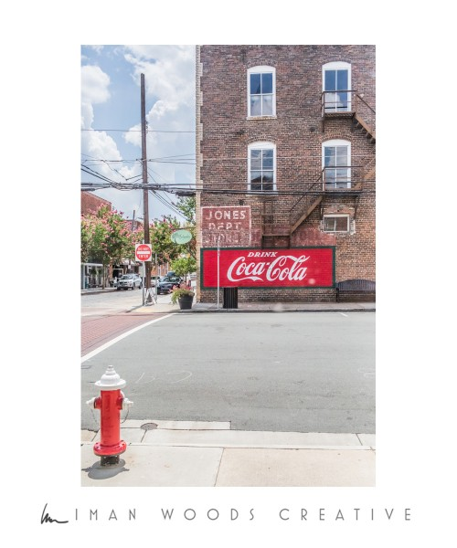 Dreaming of a Retail Space - The view from the front doors looking across the street. I've loved this Coca-Cola sign since I moved here a year ago.