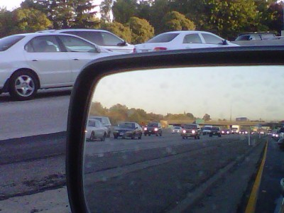 Wordless Wednesday: rearview morning by Remy Gervais