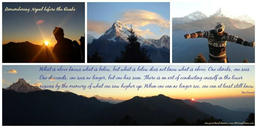 Remembering Nepal Before the Quake: Trekking images & quote about climbing Everest