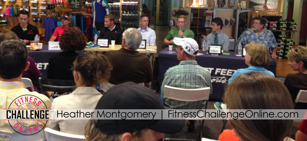 Panel discussion on heel drop shoes in running shoes at Fleet Feet Santa Rosa