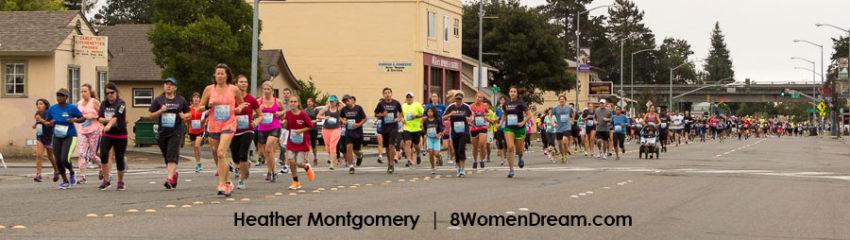Heather Santa Rosa Downtown 5k Run Start