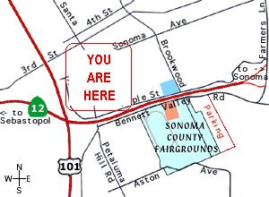 sonoma county map