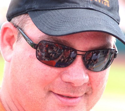 Images of Spring Training Dreams: Fans reflected on sunglasses