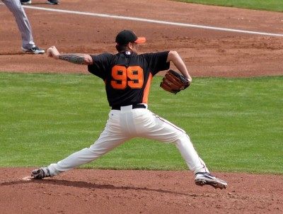 Images of Spring Training Dreams: Giants #99 on the mound