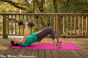 Irish Workout - The Irish Squeeze with Chest Fly in the Bridge Position