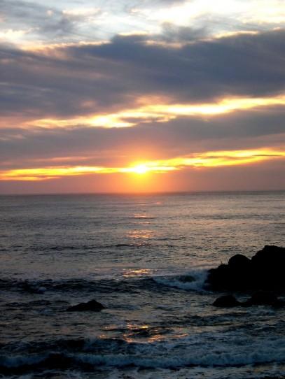 sunset in bodega bay california