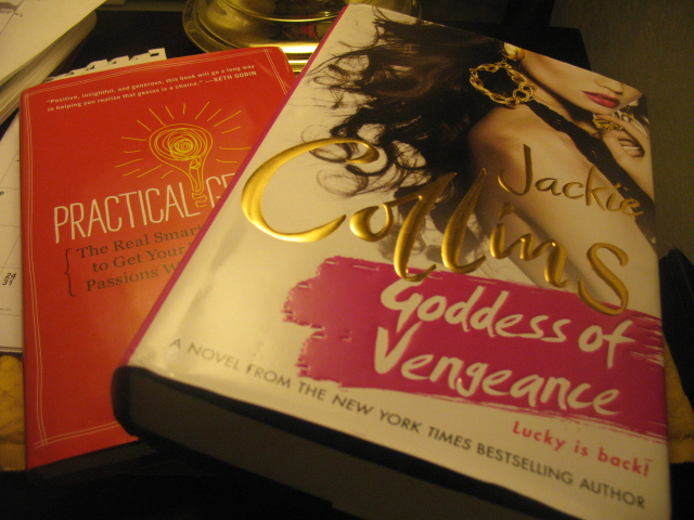 surround yourself with genius like Jackie Collins