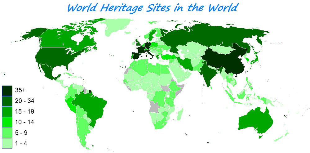Now You Can Get Travel Bucket List Ideas from World Heritage Sites: World Heritage Sites by Country