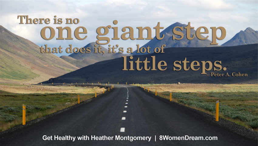 there is no one giant step - image quote - heather montgomery